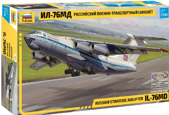1-144 Russian IL76 MD Strategic Airlifter Aircraft zvezda