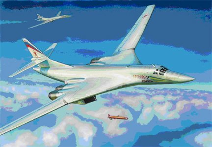 1-144 Russian Tu160 Blackjack Supersonic Bomber Zvezda