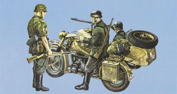 1-35 BMW Motorcycle w-Sidecar 75