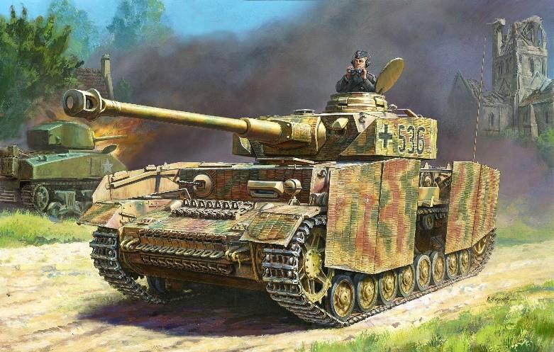 1-35 German Panzer IV Ausf H Medium Tank zvezda