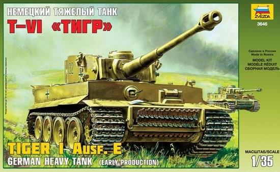 1-35 German Tiger I Ausf E Early Tank Zvezda