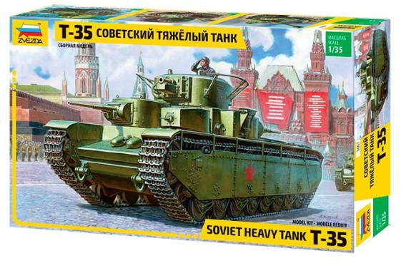 1-35 Soviet T35 Heavy Tank Zvezda