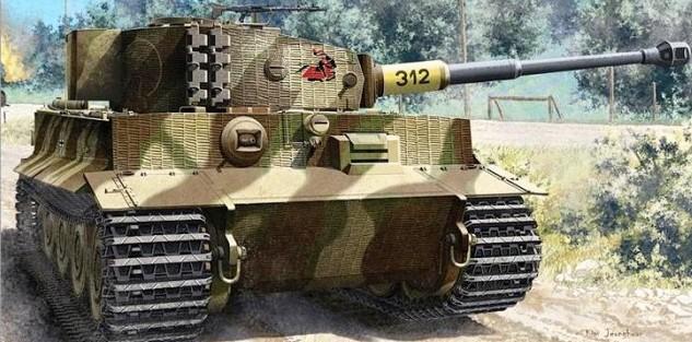 1-35 Tiger I Late Version Tank