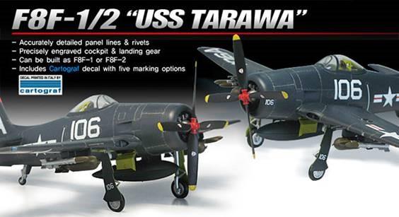 1-48 F8F1-2 USS Tarawa USN Fighter