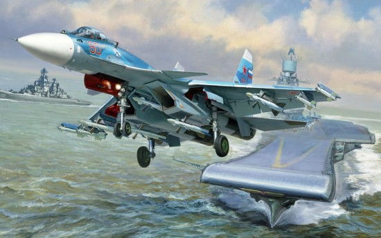 1-72 Russian Su33 Flanker D Naval Fighter Zvezda
