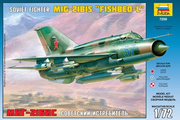 1-72 Soviet MiG21BIS Fishbed-L Fighter Zvezda
