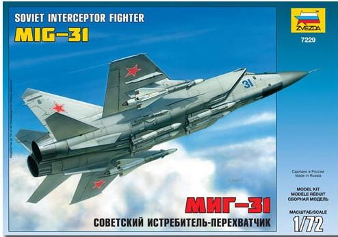 1-72 Soviet MiG31 Interceptor Fighter Zvezda