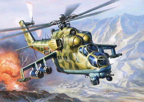 1-72 Soviet Mil Mi24V-VP Hind E Attack Helicopter Zvezda