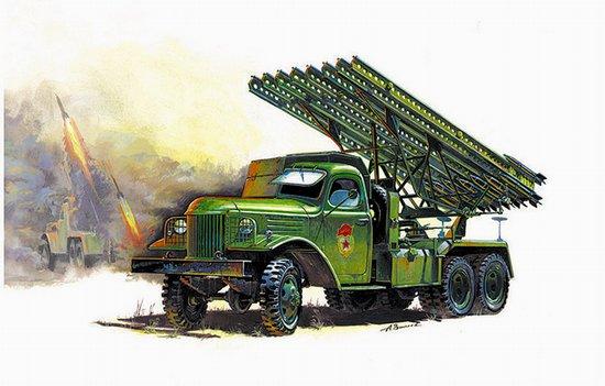Zvezda 1-35 WWII Soviet Rocket Launcher BM13 Katyusha