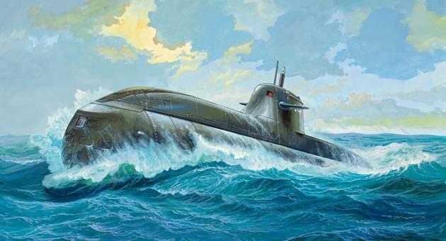 1-144 German U-Boat Class 212 A Submarine