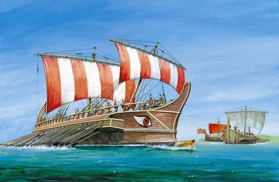 1-72 Greek Triera Battleship Greek-Persian War