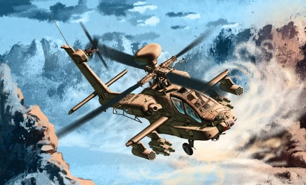 1:72 AH64D Apache Block II early Version Helicopter