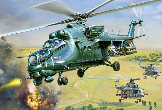 1:72 Russian Mil Mi35 Hind E Attack Helicopter