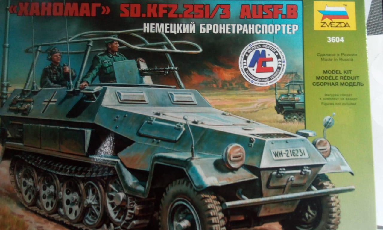 SD.KFZ.251-3 AUSF.B 1-35 Zvezda 3604